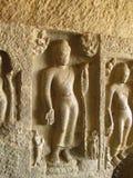 Buddha sculptures. Its photo of Buddha sculptures. Place - Kanheri caves, Mumbai, India royalty free stock photography