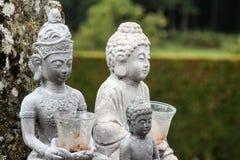 Buddha sculptures. Three Buddha sculptures in nature Stock Photos