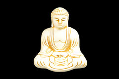 Buddha seated in meditation. Sculpted with the tranquil majesty of those in ancient monasteries, this three-dimensional work of decorative Asian art creates a Stock Photography