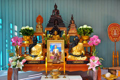Buddha Set In Ceremony Royalty Free Stock Images