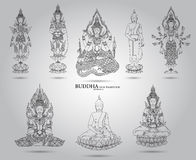 Buddha set thai tradition style Royalty Free Stock Photos