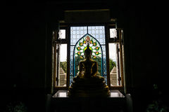 Buddha and shadow Royalty Free Stock Images
