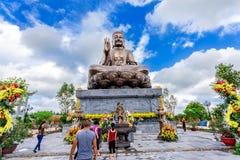 Buddha Shakyamuni bronze statue in Truc Lam Thien Truong. Stock Image