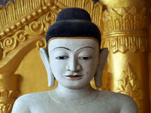 Buddha Shite-thaung tempel, Mrauk U, Rakhine, Burma (Myanmar) Arkivbild