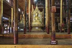 Buddha Shrine - Inside the Nga Phe Kyaung Monastery,  Taunggyi, Stock Photography