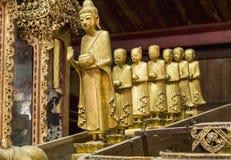 Buddha Shrine - Inside the Nga Phe Kyaung Monastery,  Taunggyi, Myanmar (Barma). Royalty Free Stock Photos