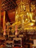 Buddha shrine. Large standing Buddha shrine in lotus sitting Stock Photography