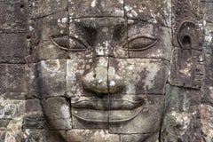 Buddha si dirige al tempio di Bayon, Angkor Wat, Cambogia Fotografia Stock Libera da Diritti