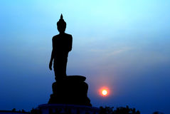 Buddha silhouette Royalty Free Stock Photo