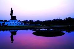 Buddha silhouette Royalty Free Stock Photos