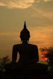 buddha silhouette Fotografering för Bildbyråer