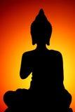 buddha silhouette Royaltyfri Fotografi