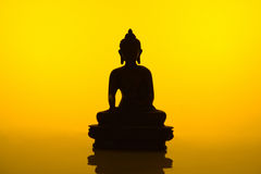 Buddha Silhouette Stock Image