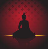 Buddha silhouette vector Stock Image