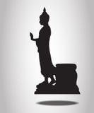 Buddha Silhouettes Stock Photos