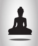 Buddha Silhouettes Royalty Free Stock Photography
