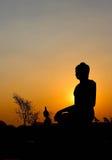 buddha silhouettestaty Royaltyfri Fotografi