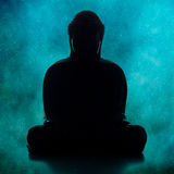 Buddha Silhouettte Royalty Free Stock Photos
