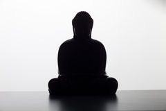 Buddha Silhouettte Royalty Free Stock Photography