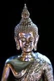 buddha silver Royaltyfri Bild