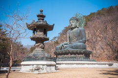Buddha in the Sinheungsa Temple. Royalty Free Stock Image