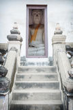 Buddha sits a small room. Thailand, Ayutthaya Royalty Free Stock Photos