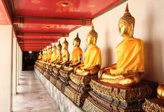Buddha sits Royalty Free Stock Images