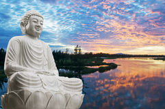 Buddha sitting Stock Photo