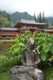 Buddha Sitting In Buddhist Temple Byodo-In Royalty Free Stock Photo