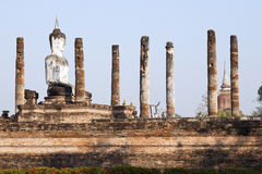 Buddha Sitting in Ruins Royalty Free Stock Image