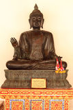 The buddha sitting. In sino-thai style of the Ayutthaya period royalty free stock photo