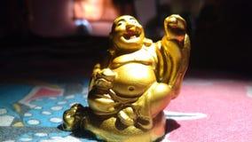 buddha skratta royaltyfri fotografi