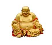 buddha skratta Arkivfoto