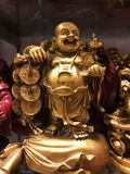 buddha skratta arkivfoton