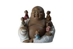 buddha skratta staty Royaltyfri Fotografi
