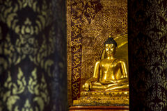 Buddha-Skulptur bei Wat Pra Singh, Chaingmai, Thailand Stockbild