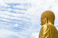 Buddha in the sky. On the sky in morning time Stock Photography