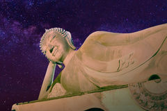 Buddha sleep over star Royalty Free Stock Photography