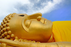 Buddha-A sleeping Buddha Stock Photos