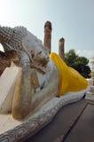 Buddha in sleeping position in Wat Yai Chaimongkol Ayuthya Thailand Stock Photography