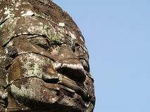 Buddha smiles. At Angkor Thom, Cambodia Stock Images
