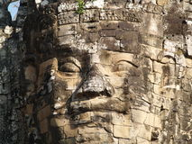 Buddha smiles at you. Taken at the entrance of Angkor Thom, Cambodia Stock Image