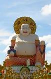 Buddha Smiling. Smiling Buddha of wealth statue on Koh Samui, Thailand Royalty Free Stock Photo
