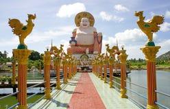 Buddha Smiling. Smiling Big Buddha of wealth statue on Koh Samui, Thailand Royalty Free Stock Images
