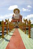Buddha Smiling. Smiling Big Buddha of wealth statue on Koh Samui, Thailand Royalty Free Stock Photo