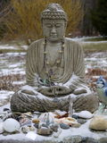 Buddha: snow offerings Stock Photography