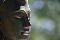 Buddha with soft background. Buddha Statue head with soft focus background Stock Image
