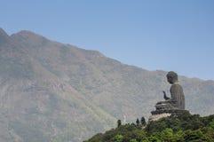 buddha solbränt tian Arkivfoto