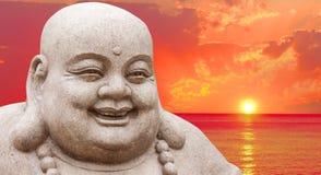 buddha solnedgång Royaltyfri Foto