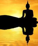 buddha solnedgång Royaltyfri Fotografi